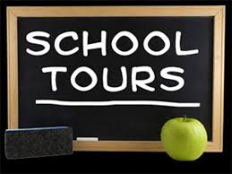 image of school tour written on blackboard